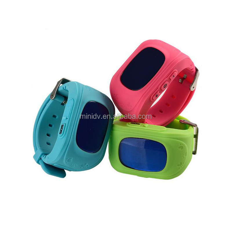 Smash Hit QUADBAND 0.66INCH OLED Display Kids GPS Watch With WristBand Removed Alarm