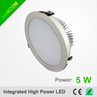 Dimmable 5w cutout 80mm SMD LED Downlight CE RoHS approval