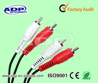 High-quality 2 RCA Plug double shielded rca cable