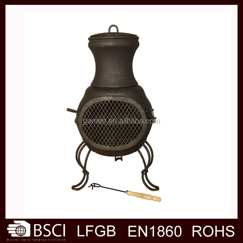 Outdoor Wood Burning Cast Iron Chiminea---CM08
