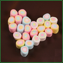 fruity column circle colorful cotton marshmallow sweets candy