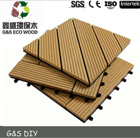 High Quality Solid Anti-UV wood composite decking, waterproof wpc deck tiles ,manufacturer price wpc decking floor