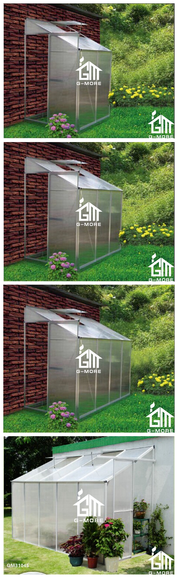 Low Cost Agriculture Walk in Hothouse Equipment - 355 x145x221cm