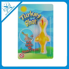plastic turkey toy children premium gifts sticky animal toys