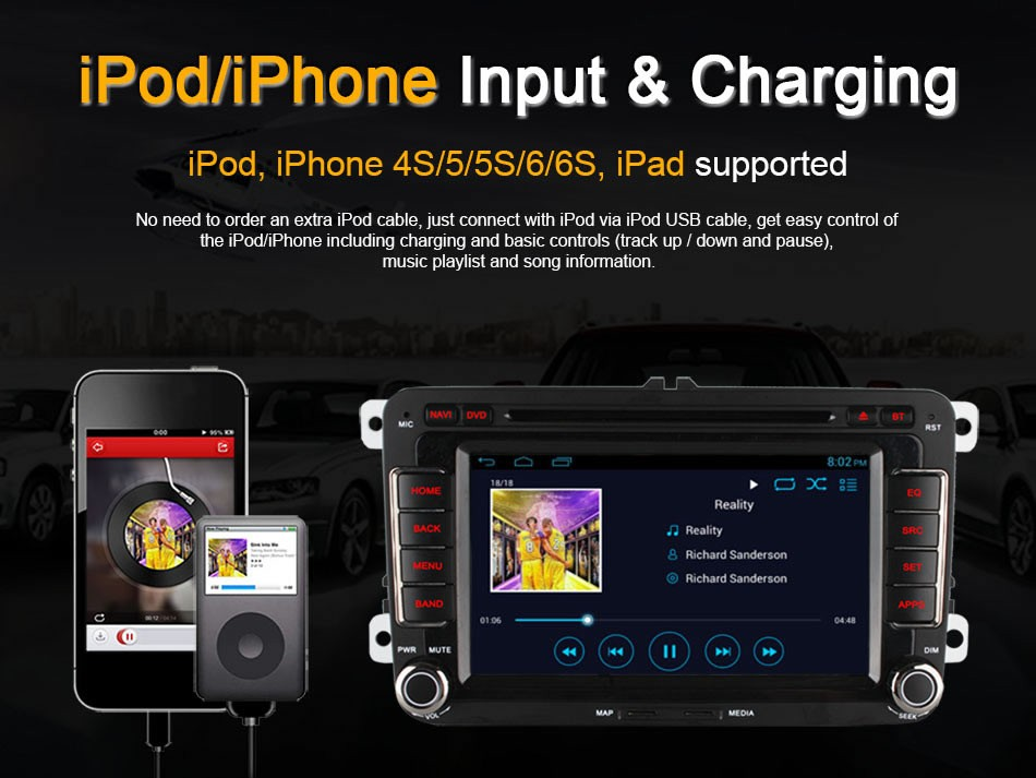 Ownice C300 Android system car audio player for VW POLO GOLF JETTA with GPS Ipod DVR digital TV 3G Wifi tmps