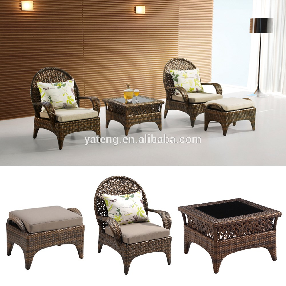 Black Rattan Outdoor Furniture Garden Treasure Classics