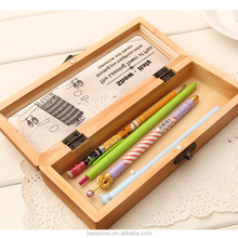 Beautiful and functional wooden pencil case