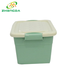 plastic convenience moving carrier storage box with lid for toys