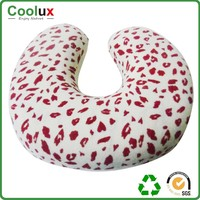 outdoor microbead animal neck pillow and car seat plush cushion pillow