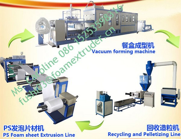 One-off food container making machine , dishes foam machines