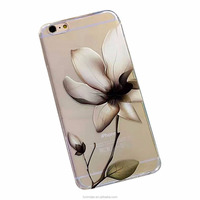 2016 Best Sale Flower TPU Soft Cover Back Phone Case for Apple iPhone 7 iPhone 6 6s plus wallet case