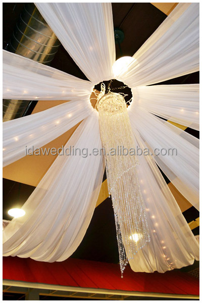 wedding hall decoration ceiling draping kits for party decoration