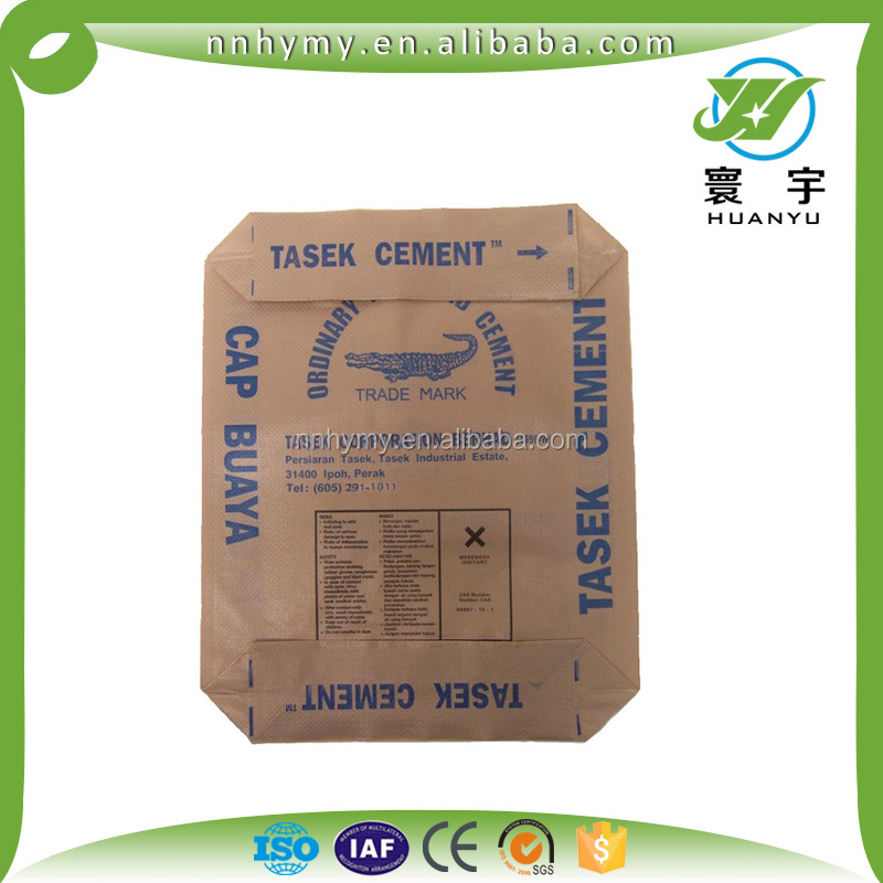 print your logo polypropylene woven package bag polymers bags 50kg cement bag