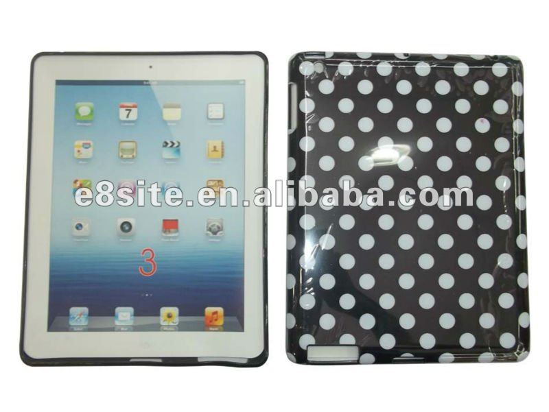 Polka Dot IMD TPU Case For The New iPad 3