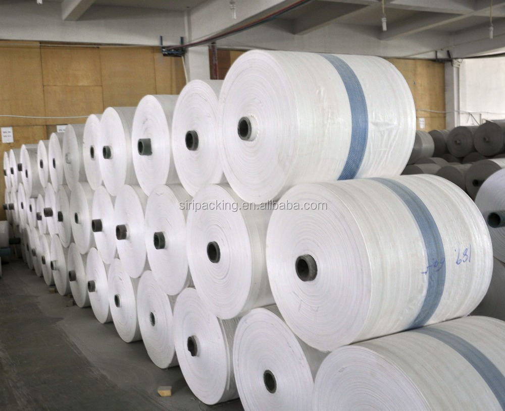china supplier cheap pp woven fabric roll , pp rice sack bag tubular roll