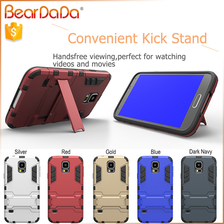 Newest Arrival kickstand mobile phone case for samsung galaxy s5