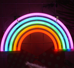 Battery Or USB Drive LED Rainbow Neon Light Sign For Christmas Birthday Party Living Room Kitchen Table Children Kids Gifts