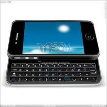 Wireless Bluetooth Sliding Keyboard + Rubberized hard shell case for iphone 4 /ipad