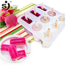 Amazon Hot Selling As Seen On Tv 9 Holes Flower Cylinder Bars Popsicle Silicone Ice Cream Mold For DIY