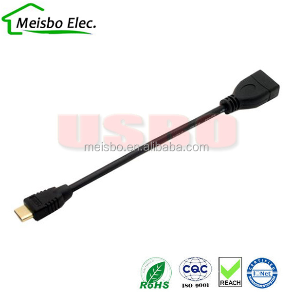 1.4V 12cm HDMI Type C Mini HDMI Male to HDMI A female adapter led usb cable