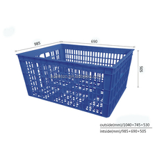 Vegetables Storage Plastic Crates Rectangle Virgin Material Stacking Baskets