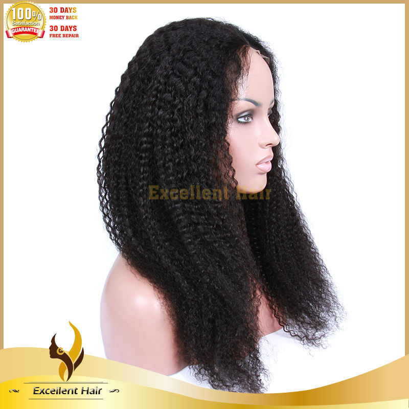 Top Beauty New Arrival Brazilian Human Hair Bleached Knots Full Lace Afro Kinky Curly Wigs for Black Women