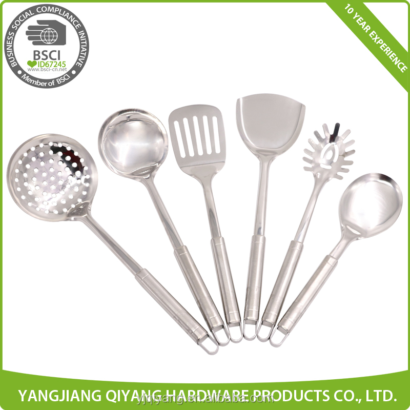 2016 New Hot Sale 6pcs Stainless Steel Kitchen Utensils