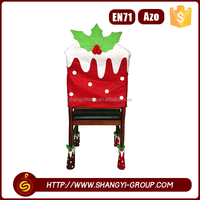 2016 Hot sell christmas decoration cartoon style fabric banquet chair cover