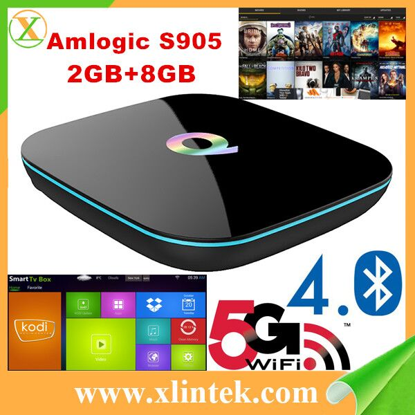 Q BOX Ultra 4K Smart TV Box Mini PC Streaming Media Player with KODI(XBMC) , 2GB RAM+ 8GB ROM, Fully Loaded, Android 6.0, Amlogi