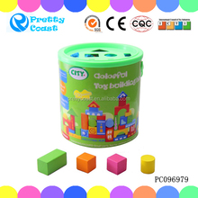 Colorful wooden building block creative play game wooden toy