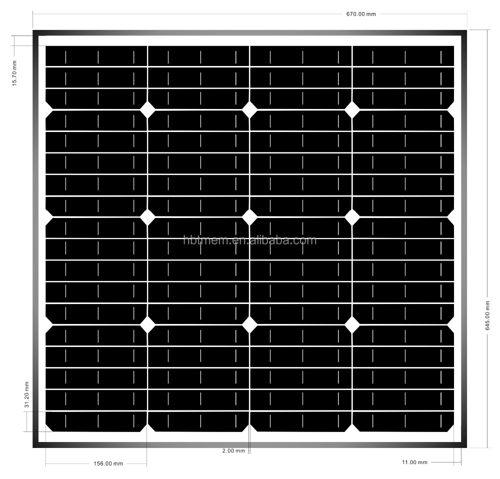 Monocrystalline 3w~300w solar panel in Dubai solar panels high efficiency home solar panel kit