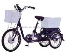 3 wheel electric tricycle with pedal /tricycle cart/shoppig cart