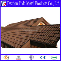 Shingle Roof Tile Weaves Color Sand Stone Coated Steel Roof Roofing Tile