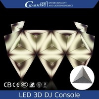 2015 New product display led 3d screen led dj display dj booth dj console for disco