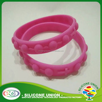 Custom printing Silicone bangle use for promotional gifts rubber bracelet