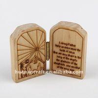HUANAN merry christmas Wooden Photo Frame,handmade wood frame crafts