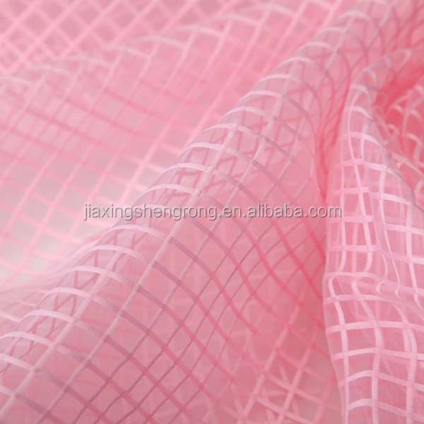 2015 New lovely table clothes, spring picnic fabric line grid organza