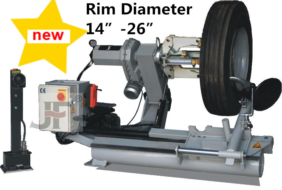 Double Cylinder Hydraulic semiautomatic ca tyre changer 2015