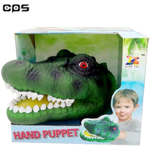 cheap PVC plastic simulation crocodile hand puppet for sales