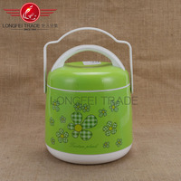 OPP packaging/conventional plastic insulation lunch box with green background and small red flowers