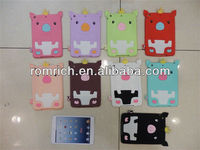 for Apple ipad mini creative unique lovely pig soft silicone cover extreme cute case
