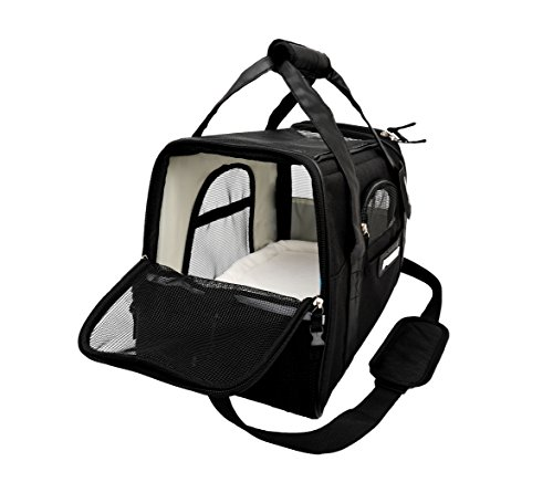 Soft Sided Wholesale Pet Carrier Airline Approved Travel Tote with Safety Lock for Small Puppy and Kitten