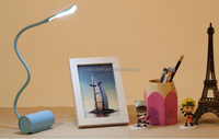 portable Table Light Touch Dimmable USB Rechargeable flexible snake led reading lamp
