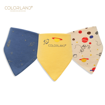Amazon hot selling 100% cotton drool bibs triangle custom baby bibs