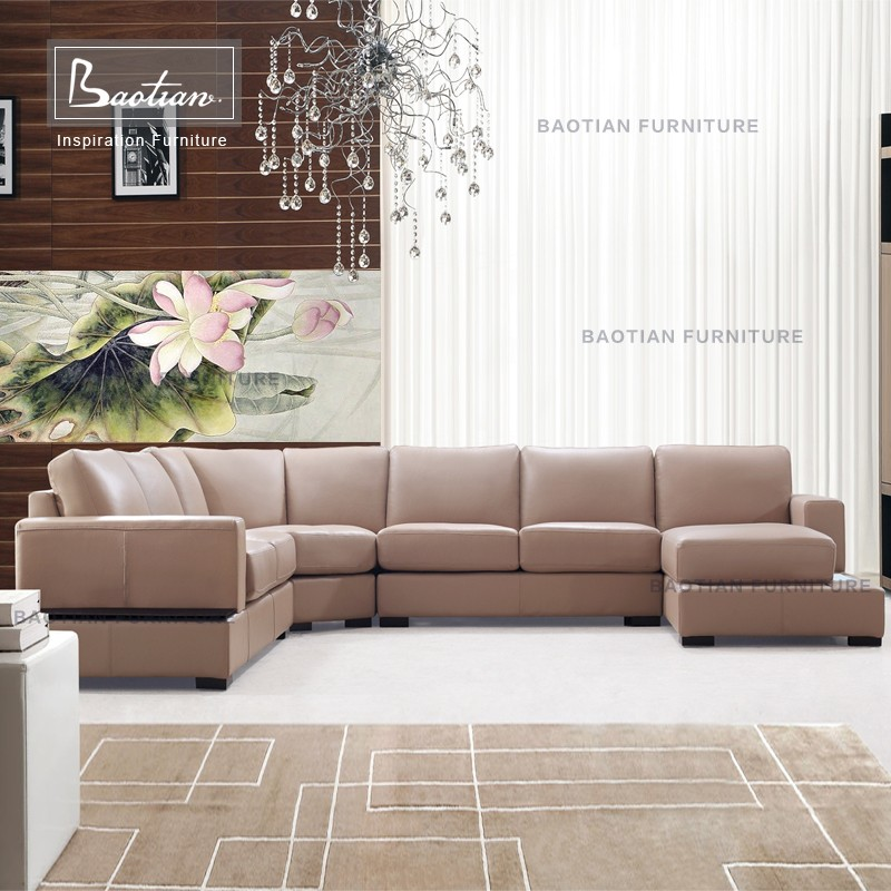 Italian leather sofa furniture and living room furniture sofa