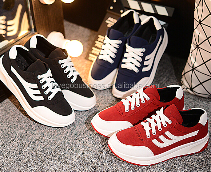 2015 Fashiom Europe style woman student canvas shoes breathable sport shoes lady casual sneakers platform zapatos de mujer