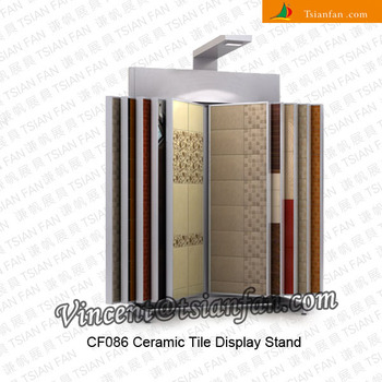 page style ceramic tile display stand, swing ceramic tile display, page turning display stand -CF086