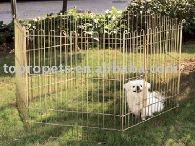 Metal puppy pen
