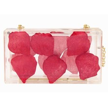 Manufactory OEM New design Cheap Price evening bag rose flower acrylic box clutch bag