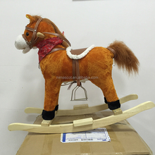 HI ASTM/CE Promotional S size mechanical rocking walking toy horse